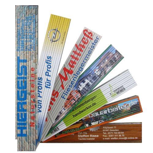 Holzgliedermaßstab 4000-90° (Winkelskalierung), 2m, mit Digital-Fotodruck